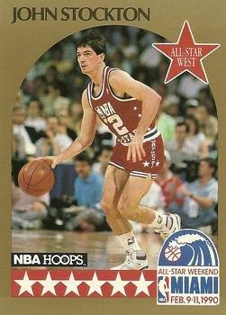 e26f95511 John Stockton basketball card (Utah Jazz) 1990 Hoops All Star  25 at ...