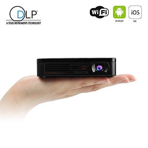 Mileagea Portable DLP Projector Wi-Fi Connection Pico Multimedia