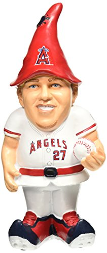 Los Angeles Angels Trout M. #27 Resin Player Gnome