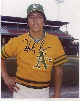 Marty Perez Autographed Picture - A'S 8x10 - Autographed MLB Photos