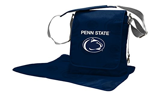 Wild Sports NCAA College Penn State Nittany Lions Messenger Diaper Bag, 13.25 x 12.25 x 5.75-Inch, Blue by Wild Sports