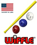 "Wiffle Ball U.S.A Set - 32"" Wiffle Bat with Red, White, and Blue Official Wiffle Balls - 4 Pack"
