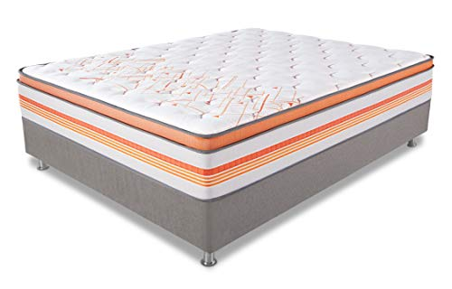 Duroflex Energise Velocity Plus 8-inch Queen Size Spring Mattress with 2 inch Eurotop (White, 78x60x8+2)
