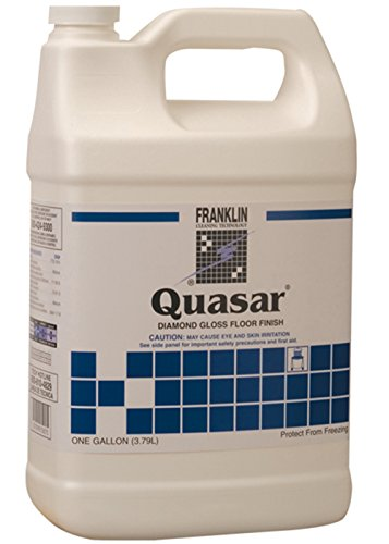 Quasar Floor Finish - Franklin Cleaning Technology F136022 Quasar Diamond Gloss Floor Finish, 1 Gallon (Pack of 4)