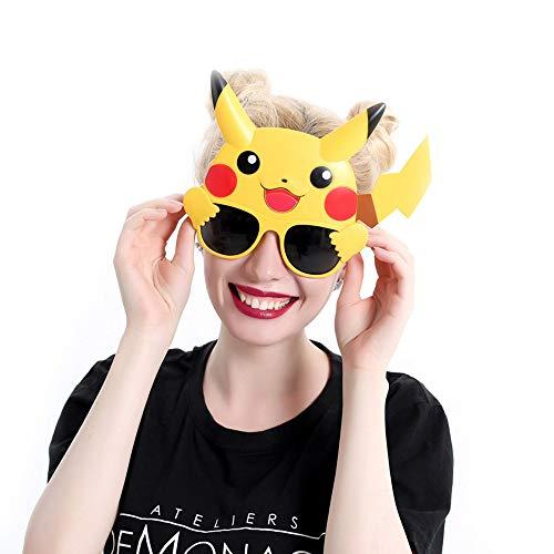 Cute Pikachu Sunglasses Party Supply Pikachu Costume Accessories (Black) -