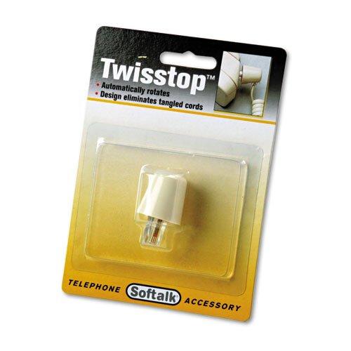 Detangler Twisstop (Softalk Twisstop Rotating Phone Cord Detangler, Ivory)