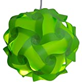 Lightingsky IQ Lamp Shade Toy Self DIY Assembled Puzzle Lights for Room Decoration (Green, XL-18 inch)