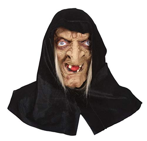 - The old witch mask Halloween horror mask latex headgear party dance mask.The Nun witch Mask Deluxe Latex Scary Full Head Halloween Cosplay Costume Accessory.Free size.