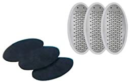 PedEgg Replacement Blades with Emery Pads - 3 pack