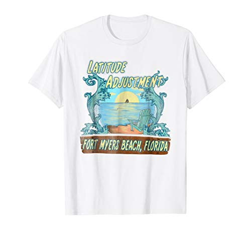 Latitude Adjustment Shirt - Fort Myers Beach, Florida - Fort Myers Pink Girl