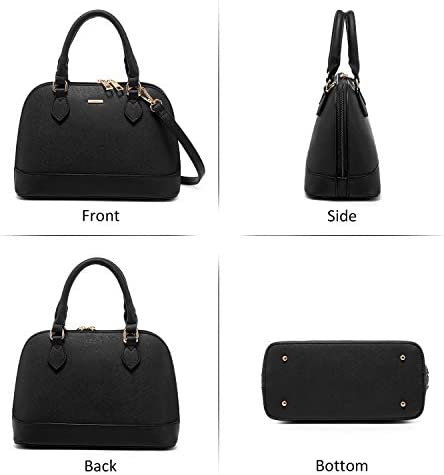 Small Crossbody Bags for Women Classic Double Zip Top Handle Dome Satchel Bag Shoulder Purse