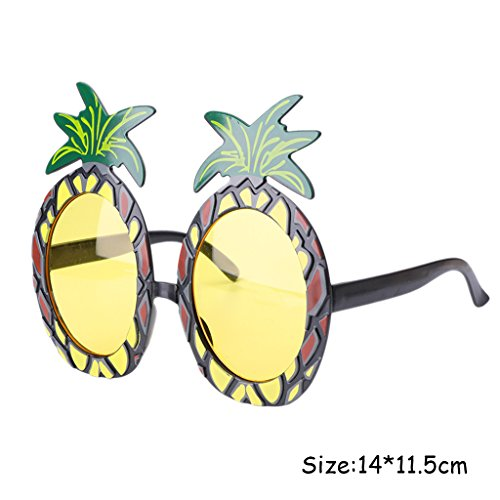 Allrise Pineapple Beach Party Glasses Sunglasses, Fancy Dress Costume Hen Night Wedding Party Decor - Wedding Beach Sunglasses