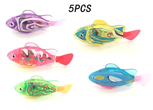 CFStore@ [5 Units] Flashy Electronic Pets Toy Robot Fish Swimming Diving Electric Turbot Fish (NDS-TMKX5)