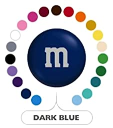 M&M\'s Dark Blue Milk Chocolate Candy 1LB Bag