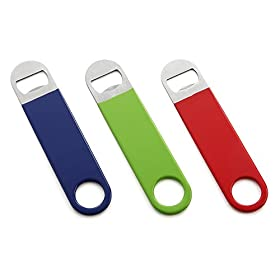 HQY 3 Pack Heavy Duty Bottle Opener, Red&Green...