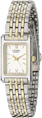 Citizen Quartz Womens Watch, Stainless Steel, Classic, Two-Tone (Model: EJ5854-56A)