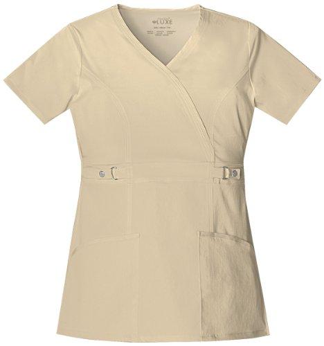 Cherokee Luxe 21701 Women's Mock Wrap Top (Luxe Wrap Mock)