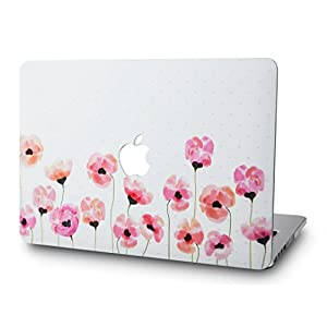 "KEC MacBook Pro 13"" Retina Case (2015) Cover Plastic Hard Shell Rubberized A1502 / A1425 (Flower 1)"