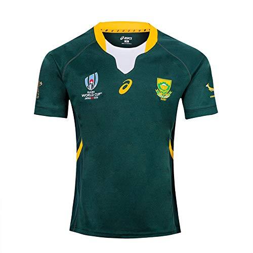 HBRE Rugby Jersey,2019 Cotton Jersey T-Shirt,Camiseta De Rugby SudáFrica,Camiseta De FúTbol Local,Manga Corta Deportiva…