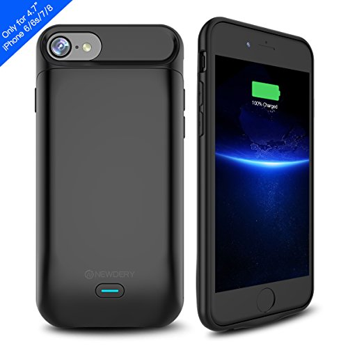 iPhone 8/7/6S Battery Case,Newdery iPhone 8 7 6S Charger Case 5000mAh Rechargeable External Portable Power Charging Case for iPhone 8/7/6S(4.7