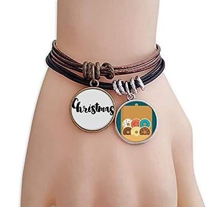 YMNW Christmas Stylish Quote Handwrite Bracelet Rope Doughnut Wristband Estimated Price -