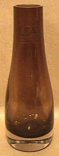 Lsa Amber Brown Glass Bud Vase Hand Crafted Mouth Blown Poland ()