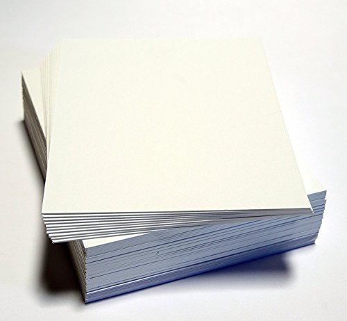topseller100, Pack of 50 sheets 8x10 UNCUT matboard / mat boards (White)