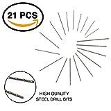 Ram-Pro 21 Pieces Mini Drill Bit Set - Twist Drills