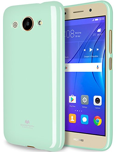 GOOSPERY Marlang Marlang Huawei Y3 2017 case - Mint Green, Free Screen Protector [Slim Fit] TPU Case [Flexible] Pearl Jelly [Protection] Bumper Cover for Huawei Y5 Lite 2017, HWY32017-JEL/SP-MNT