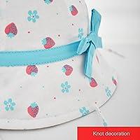 Girl Cherries Sun Protection Bucket Hat Kids 50 SPF UV Protective Wide Brim