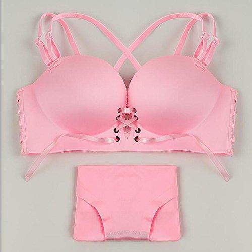 Heart&M Femmes lingerie soutien-gorge sexy deep v réunis ensemble soutien-gorge , pink , 70b