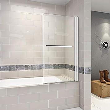 Mampara bañera nano-cristal pared ducha separación ducha 80x140cm: Amazon.es: Bricolaje y herramientas
