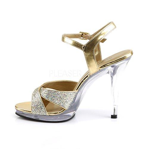 Toe Gold Heels Womens Peep Higher UxItdaqt