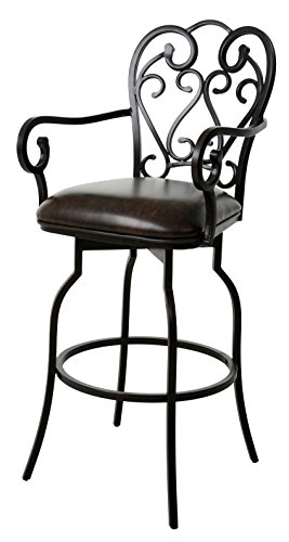 Impacterra Magnolia KD Swivel Bar Height Stool with Arms, 30
