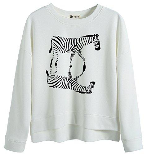 Zebra Print Sweatshirt - 4