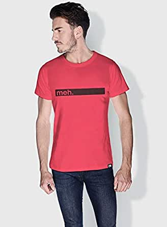 Creo Meh Funny T-Shirts For Men - S, Pink