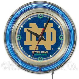 Notre Dame Fighting Irish NCAA Deluxe Neon Clock by TeamBarStools.com