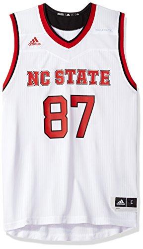(adidas NCAA North Carolina State Wolfpack Mens Replica Basketball Jerseyreplica Basketball Jersey, White, Large)