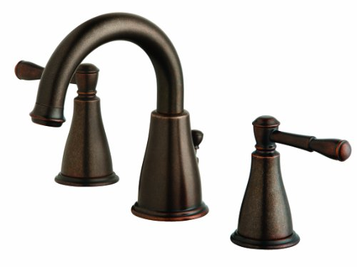 (Danze D304015BR Eastham Two Handle Widespread Faucet, Tumbled Bronze)