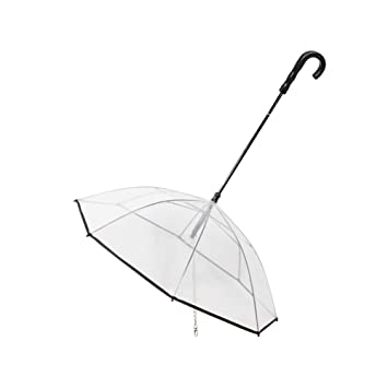 Paraguas Transparente para Mascotas Cuerda de Tracción en Tipo de Paraguas Suministros para Mascotas
