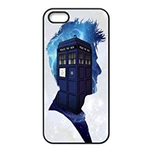 Mystic Zone Doctor Who Tardis Door Cover Case for iPhone 5/5S TPU Back Cover Fits Case WSQ1703