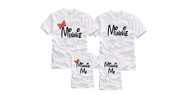 ce414e58d6 Amazon.com: Wonder Labs Minnie & Minnie Me Mom Dad Child Disney Matching  Family Funny Shirts T-Shirt: Clothing