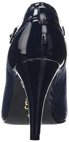Lotus Women's Steepie Closed-Toe Heels Blue (Navy Print) IqajgydNVH