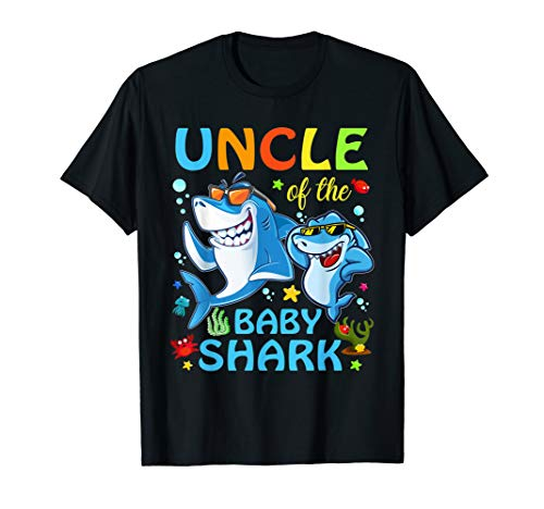Uncle Of The Baby Shark Birthday Uncle Shark Shirt