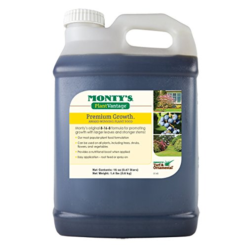 (Monty's Plant Food Company 503160  Plant Vantage Premium Growth Fertilizer, 16 oz)