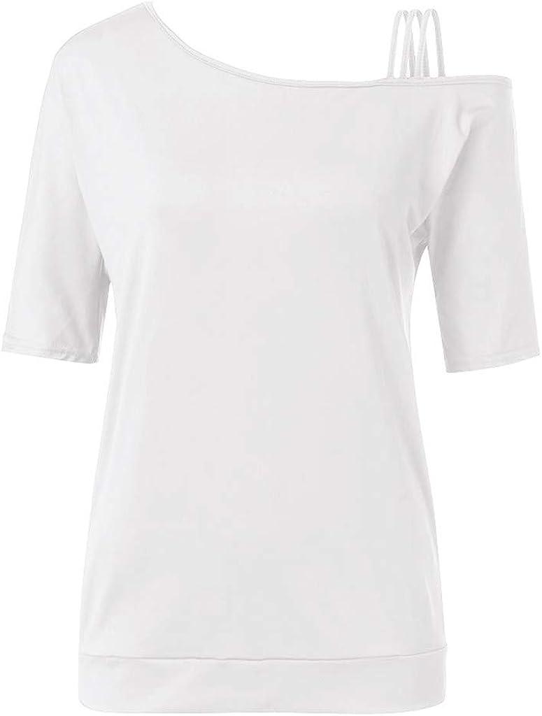Luckycat Mujer Camisas De Hombro Frío Blusas Tops del Batwing ...