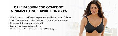 Bali Passion For Comfort Minimizer Underwire Bra, White, 38C by Bali (Image #6)