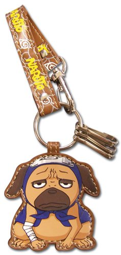 Great Eastern Entertainment Naruto Pakkun Leather Keychain