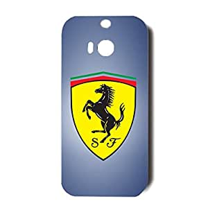 3D Classical Hard Plastic Ferrari Logo Phone Case for Htc One M8 Ferrari Cover Case