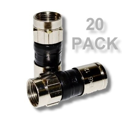 PPC EX6XL-PLUS Universal RG-6 Compression Connector - 20 Pack